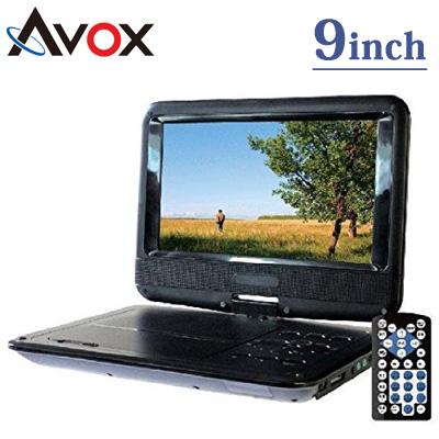 【返品OK!条件付】AVOX 9インチ ポータブル DVDプレーヤー 270度回転式液晶モニター搭載 ADP-9020MK 【KK9N0D18P】【80サイズ】