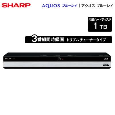 【返品OK!条件付】シャープ アクオス ブルーレイディスクレコーダー ドラ丸 1TB HDD内蔵 トリプルチューナー 3番組同時録画 4K対応 BD-UT1200 【KK9N0D18P】【120サイズ】