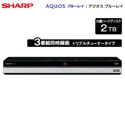 【返品OK!条件付】シャープ アクオス ブルーレイディスクレコーダー ドラ丸 2TB HDD内蔵 トリプルチューナー 3番組同時録画 4K対応 BD-UT2200 【KK9N0D18P】【120サイズ】