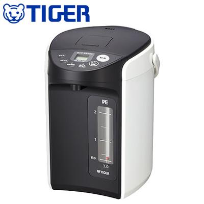 【返品OK!条件付】タイガー 3.0L VE電気まほうびん とく子さん ホワイト PIQ-A300-W 【KK9N0D18P】【120サイズ】