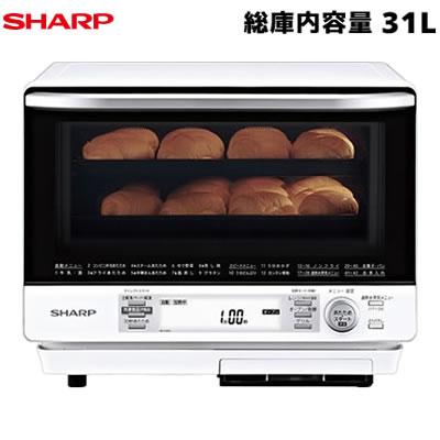 【返品OK!条件付】シャープ 31L 2段調理 過熱水蒸気オーブンレンジ ホワイト系 RE-V100A-W 【KK9N0D18P】【140サイズ】