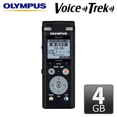 【返品OK!条件付】オリンパス ICレコーダー 4GB Voice-Trek DM-750-BLK ブラック 【KK9N0D18P】【80サイズ】