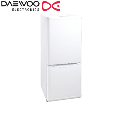 【返品OK!条件付】DAEWOO 冷凍冷蔵庫 150L 2ドア 右開き DR-B15EW ホワイト 【KK9N0D18P】【240サイズ】