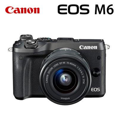 【返品OK!条件付】CANON ミラーレスカメラ EOS M6・EF-M15-45 IS STMレンズキット ブラック 1724C014 キヤノン EOSM6BK-1545ISSTM 【KK9N0D18P】【100サイズ】