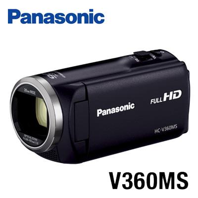 【キャッシュレス5%還元店】【返品OK!条件付】パナソニック デジタルハイビジョンビデオカメラ 16GBメモリー内蔵 HC-V360MS-K ブラック 【KK9N0D18P】【60サイズ】
