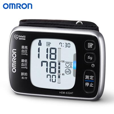 【返品OK!条件付】オムロン 手首式血圧計 HEM-6324T 【KK9N0D18P】【60サイズ】
