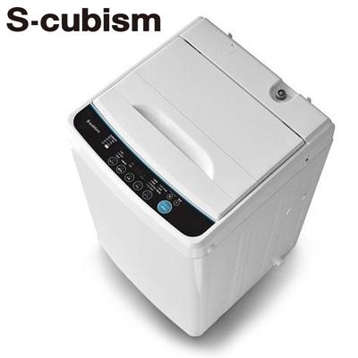 【キャッシュレス5%還元店】【返品OK!条件付】エスキュービズム 全自動洗濯機 洗濯・脱水容量5.0kg SWL-050W S-cubism 【KK9N0D18P】【240サイズ】
