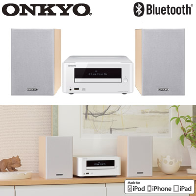 【返品OK!条件付】オンキヨー CDレシーバーシステム X-U6-W ホワイト ONKYO 【KK9N0D18P】【120サイズ】