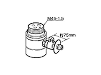 【返品OK!条件付】食器洗い機設置用分岐水栓CB-SMC6【KK9N0D18P】【60サイズ】