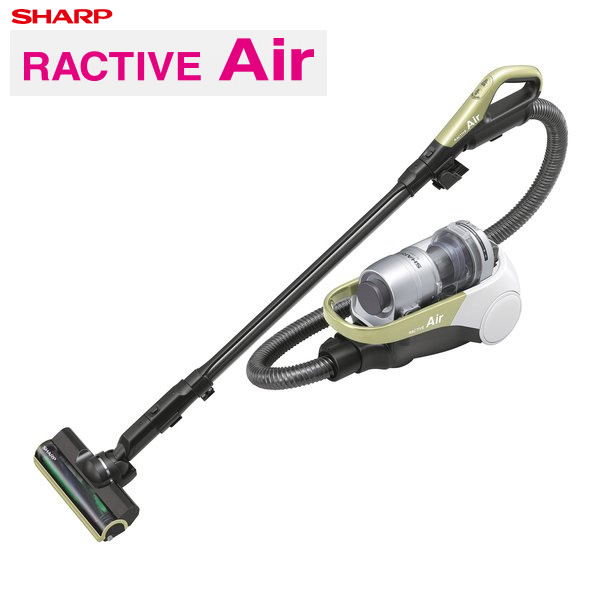 【返品OK!条件付】シャープ 掃除機 サイクロン式 RACTIVE Air コードレスキャニスターサイクロン掃除機 EC-AS500-Y イエロー系 【KK9N0D18P】【120サイズ】