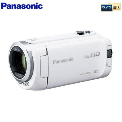 【返品OK!条件付】パナソニック デジタルビデオカメラ 64GB フルハイビジョン ワイプ撮り 軽量モデル HC-W585M-W ホワイト 【KK9N0D18P】【80サイズ】