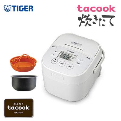 【返品OK!条件付】タイガー 3合炊き マイコン炊飯ジャー 炊飯器 炊きたて タクック JBU-A551-W ホワイト 【KK9N0D18P】【100サイズ】
