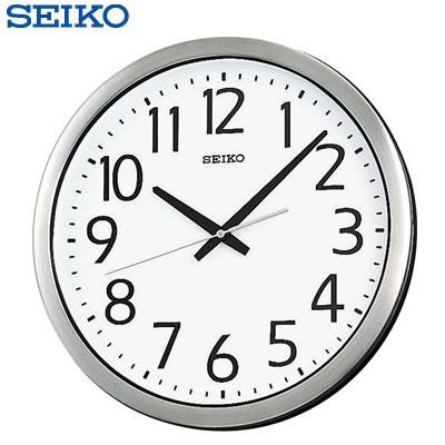 【返品OK!条件付】セイコー クロック 掛け時計 アナログ 防湿 防塵型 オフィスタイプ 金属枠 KH406S SEIKO 【KK9N0D18P】【100サイズ】