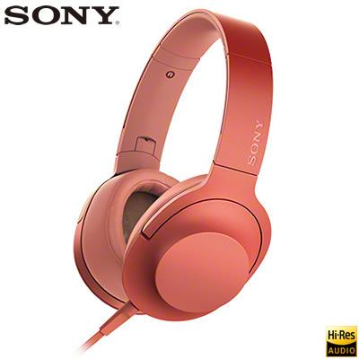 【返品OK!条件付】ソニー ステレオヘッドホン h.ear on 2 ハイレゾ対応 密閉ダイナミック型 MDR-H600A-R トワイライトレッド 【KK9N0D18P】【80サイズ】