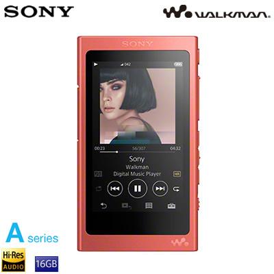 ソニー ウォークマン Aシリーズ 16GB ポータブルオーディオプレーヤー ハイレゾ対応 NW-A45-R トワイライトレッド