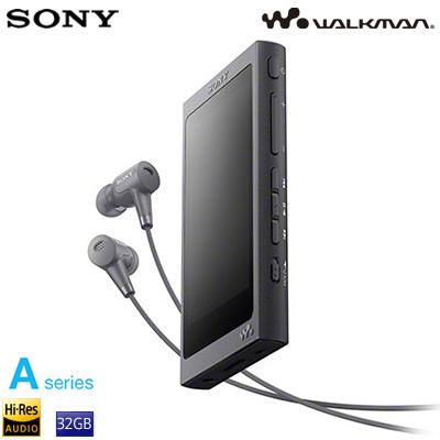 ソニー ウォークマン Aシリーズ 32GB ポータブルオーディオプレーヤー ハイレゾ対応 NW-A46HN-B グレイッシュブラック