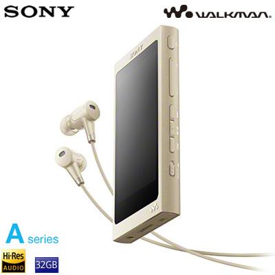 ソニー ウォークマン Aシリーズ 32GB ポータブルオーディオプレーヤー ハイレゾ対応 NW-A46HN-N ペールゴールド