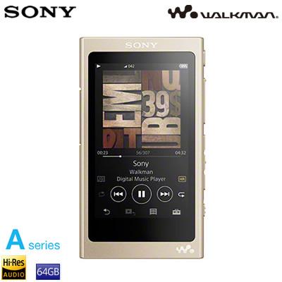 ソニー ウォークマン Aシリーズ 64GB ポータブルオーディオプレーヤー ハイレゾ対応 NW-A47-N ペールゴールド
