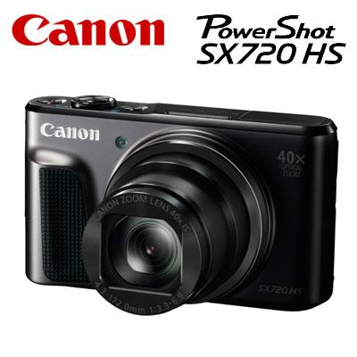 【キャッシュレス5%還元店】【返品OK!条件付】キヤノン コンパクトデジタルカメラ PowerShot SX720 HS パワーショット PSSX720HS-BK ブラック 【KK9N0D18P】【60サイズ】