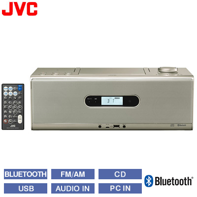 【返品OK!条件付】JVC ビクター CDポータブルシステム Bluetooth NFC対応 RD-W1-N シャンパンゴールド 【KK9N0D18P】【100サイズ】