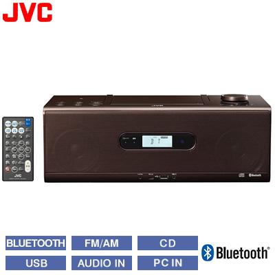 【返品OK!条件付】JVC ビクター CDポータブルシステム Bluetooth NFC対応 RD-W1-T ブラウン 【KK9N0D18P】【100サイズ】