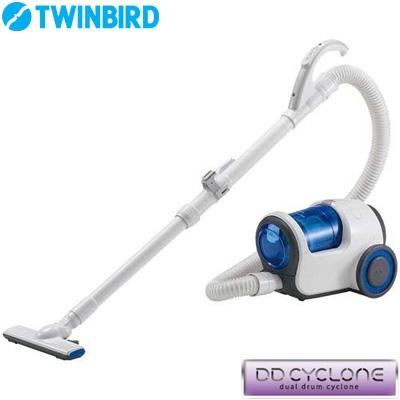 【返品OK!条件付】ツインバード 掃除機 家庭用クリーナー デュアルドラムサイクロン YC-T009BL ブルー 【KK9N0D18P】【120サイズ】