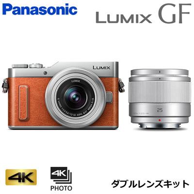 【返品OK!条件付】パナソニック ミラーレス一眼カメラ ルミックス LUMIX Gシリーズ DC-GF10 ダブルレンズキット DC-GF10W-D オレンジ【KK9N0D18P】【80サイズ】