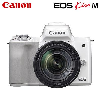 【キャッシュレス5%還元店】【返品OK!条件付】Canon キヤノン ミラーレス一眼カメラ EOS Kiss M EF-M18-150 IS STM レンズキット EOSKissM-18150LK-WH ホワイト【KK9N0D18P】【80サイズ】