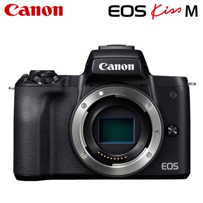 【キャッシュレス5%還元店】【返品OK!条件付】Canon キヤノン ミラーレス一眼カメラ EOS Kiss M ボディー EOSKissM-BODY-BK ブラック【KK9N0D18P】【80サイズ】