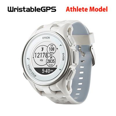 【返品OK!条件付】エプソン GPSランニングウオッチ WristableGPS J-300シリーズ Athlete Model 腕時計タイプ J-300W ホワイト【KK9N0D18P】【60サイズ】