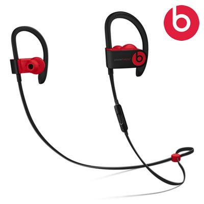 【返品OK!条件付】beats by dr.dre ワイヤレス イヤホン Powerbeats3 wireless 密閉型 Bluetooth対応 MRQ92PAA レジスタンス・ブラックレッド MRQ92PA/A【KK9N0D18P】【60サイズ】
