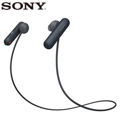 【キャッシュレス5%還元店】【返品OK!条件付】ソニー ワイヤレスイヤホン ステレオヘッドセット WI-SP500-B ブラック【KK9N0D18P】【60サイズ】