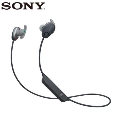 【返品OK!条件付】ソニー ワイヤレスイヤホン ノイズキャンセリング ステレオヘッドセット WI-SP600N-B ブラック【KK9N0D18P】【60サイズ】