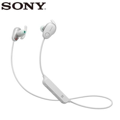 【返品OK!条件付】ソニー ワイヤレスイヤホン ノイズキャンセリング ステレオヘッドセット WI-SP600N-W ホワイト【KK9N0D18P】【60サイズ】