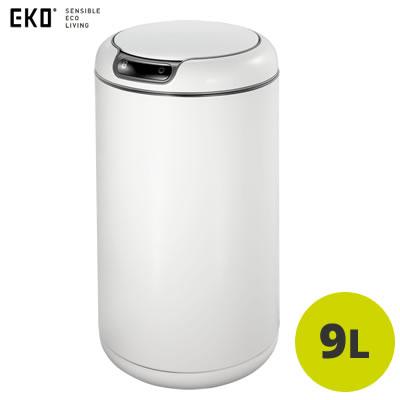 【返品OK!条件付】正規販売店 EKO センサー式 9L ごみ箱 ガレリアセンサービン EK9255P-9L-WH ホワイト【KK9N0D18P】【100サイズ】