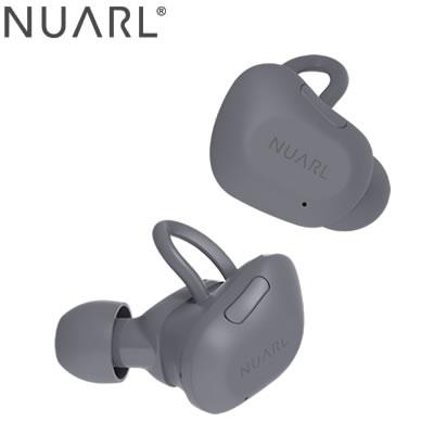 【返品OK!条件付】NUARL 完全ワイヤレスイヤホン トゥルーワイヤレス ステレオイヤホン NT01L-DG ダークグレイ【KK9N0D18P】【60サイズ】