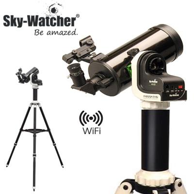 【返品OK!条件付】スカイウォッチャー 天体望遠鏡 WiFi対応自動導入式 AZ-Gti+MC90セット SET044【KK9N0D18P】【240サイズ】