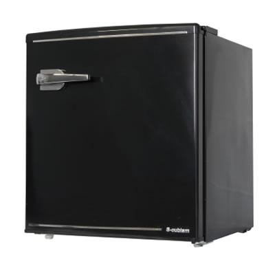 【キャッシュレス5%還元店】【返品OK!条件付】エスキュービズム A-Stage 1ドアレトロ冷蔵庫 48L ブラック WRD-1048K S-cubism【KK9N0D18P】【160サイズ】