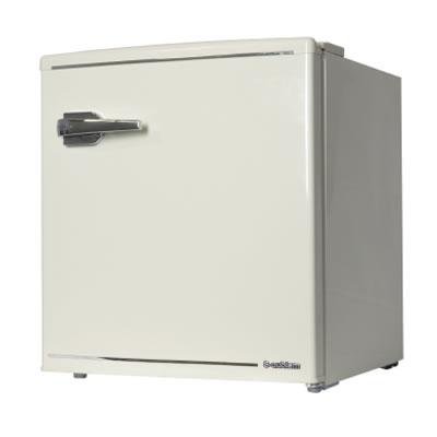 【返品OK!条件付】エスキュービズム A-Stage 1ドアレトロ冷蔵庫 48L レトロホワイト WRD-1048W S-cubism【KK9N0D18P】【160サイズ】