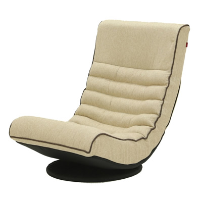 【キャッシュレス5%還元店】【返品OK!条件付】Harmonia ハルモニア リラックスフロアソファ ベージュ 83-851 座椅子 完成品 ヤマソロ【KK9N0D18P】【160サイズ】