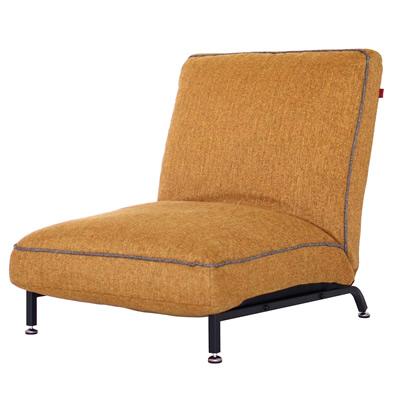 【返品OK!条件付】Harmonia ハルモニア スチールレッグソファ イエロー 83-856 椅子 組立品 ヤマソロ【KK9N0D18P】【220サイズ】