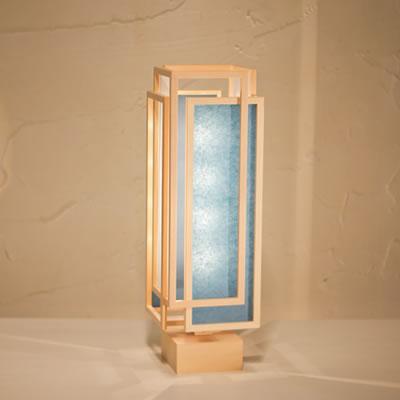 【キャッシュレス5%還元店】【返品OK!条件付】新洋電気 和風照明 和室 スタンドライト 旬 shun-L 白×藍 A537-D【KK9N0D18P】【80サイズ】