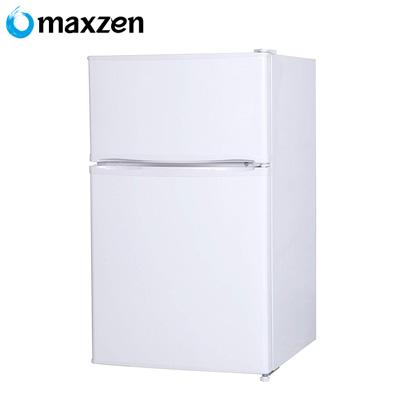 【返品OK!条件付】マクスゼン 2ドア 冷凍 冷蔵庫 左右開き対応 90L JR090ML01WH ホワイト【KK9N0D18P】【200サイズ】