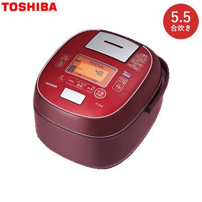 【返品OK!条件付】東芝 5.5合炊き ジャー炊飯器 真空圧力IH RC-10VSM-RS ディープレッド【KK9N0D18P】【100サイズ】