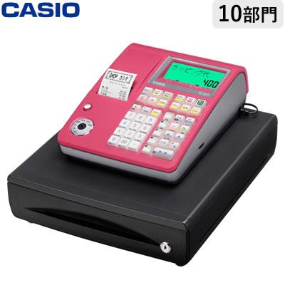 【返品OK!条件付】カシオ 電子レジスター レジスター TE-400-RD レッド 軽減税率対策補助金対象【KK9N0D18P】【120サイズ】
