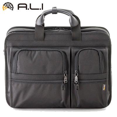 【キャッシュレス5%還元店】【返品OK!条件付】A.L.I ビジネスバッグ ビジネスカジュアル CORDURA AG-6800-BK ブラック【KK9N0D18P】【100サイズ】