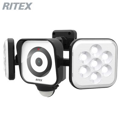 【キャッシュレス5%還元店】【返品OK!条件付】ムサシ LEDセンサーライト 防犯カメラ 8W×2灯 C-AC8160 RITEX【KK9N0D18P】【60サイズ】