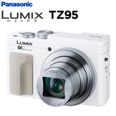 【返品OK!条件付】パナソニック デジタルカメラ コンパクトカメラ ルミックス LUMIX TZ95 DC-TZ95-W ホワイト【KK9N0D18P】【60サイズ】