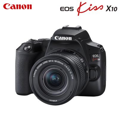 【キャッシュレス5%還元店】【返品OK!条件付】キヤノン デジタル一眼レフカメラ EOS Kiss X10 EF-S18-55 IS STM レンズキット EOSKISSX10LK-BK ブラック CANON【KK9N0D18P】【80サイズ】