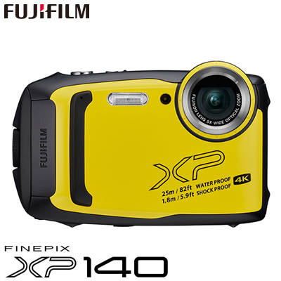 【返品OK!条件付】富士フイルム タフネスカメラ FinePix XP140 防水 耐衝撃 防塵 耐寒 4K動画 デジタルカメラ XPシリーズ FX-XP140Y イエロー【KK9N0D18P】【60サイズ】